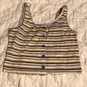 Cropped tank top. Size large.